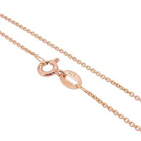 Cable Chain 9ct Rose Gold 1.5mm Anklet