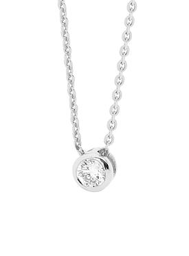 North Star necklace in silver and CZ