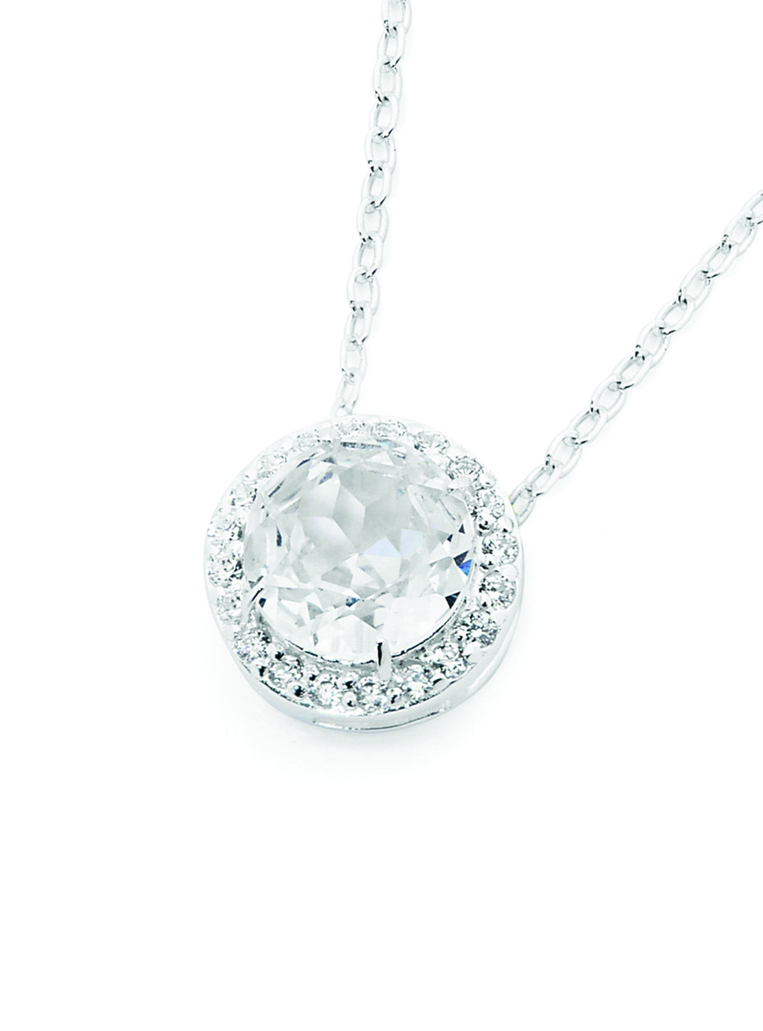Silver Silver Pendant with Cubic Zirconia