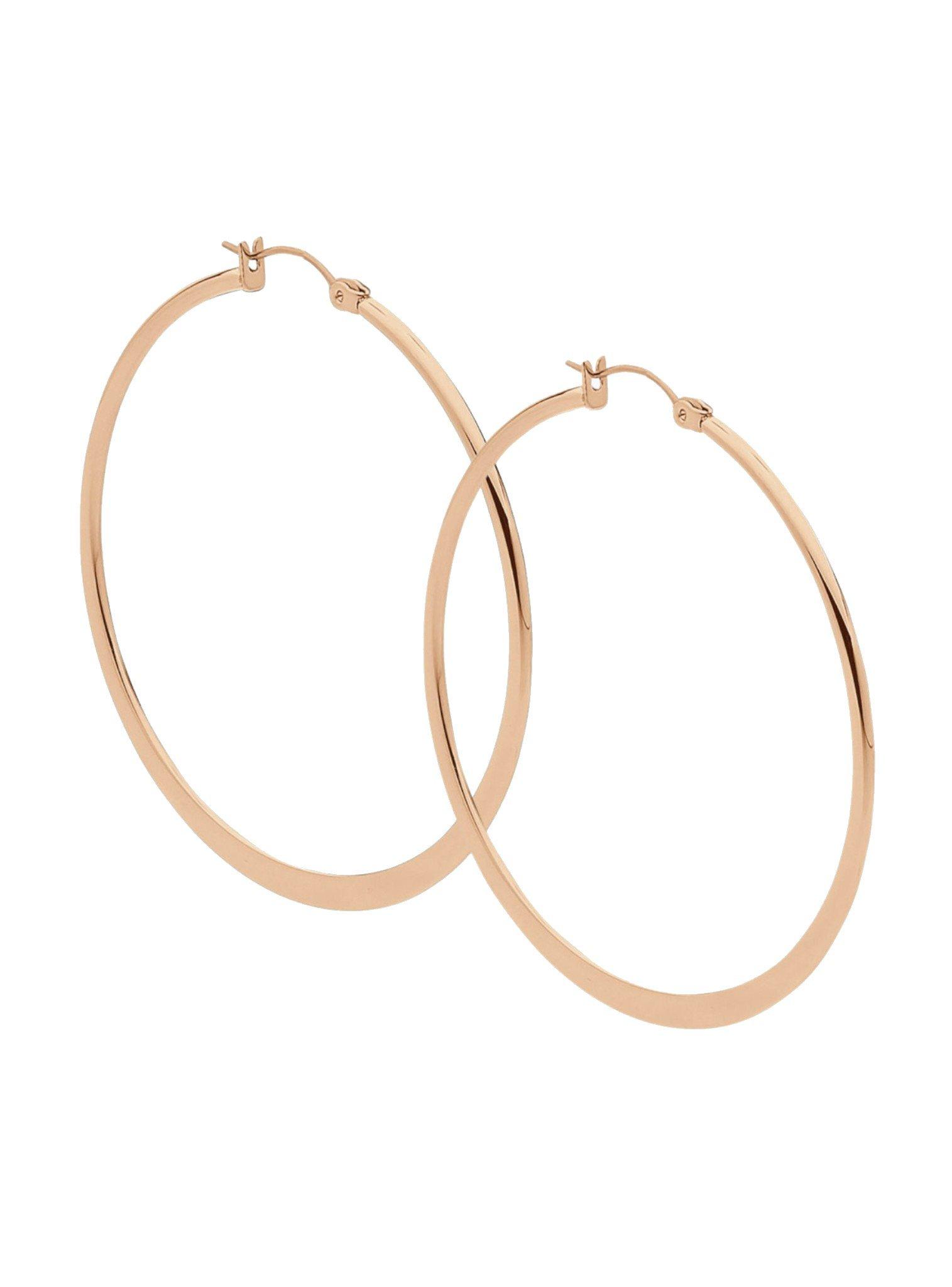 Large Hoop Earrings in Rose Gold Stainless Steel
