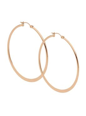 Large Hoop Earrings in Rose Gold Stainless Steel