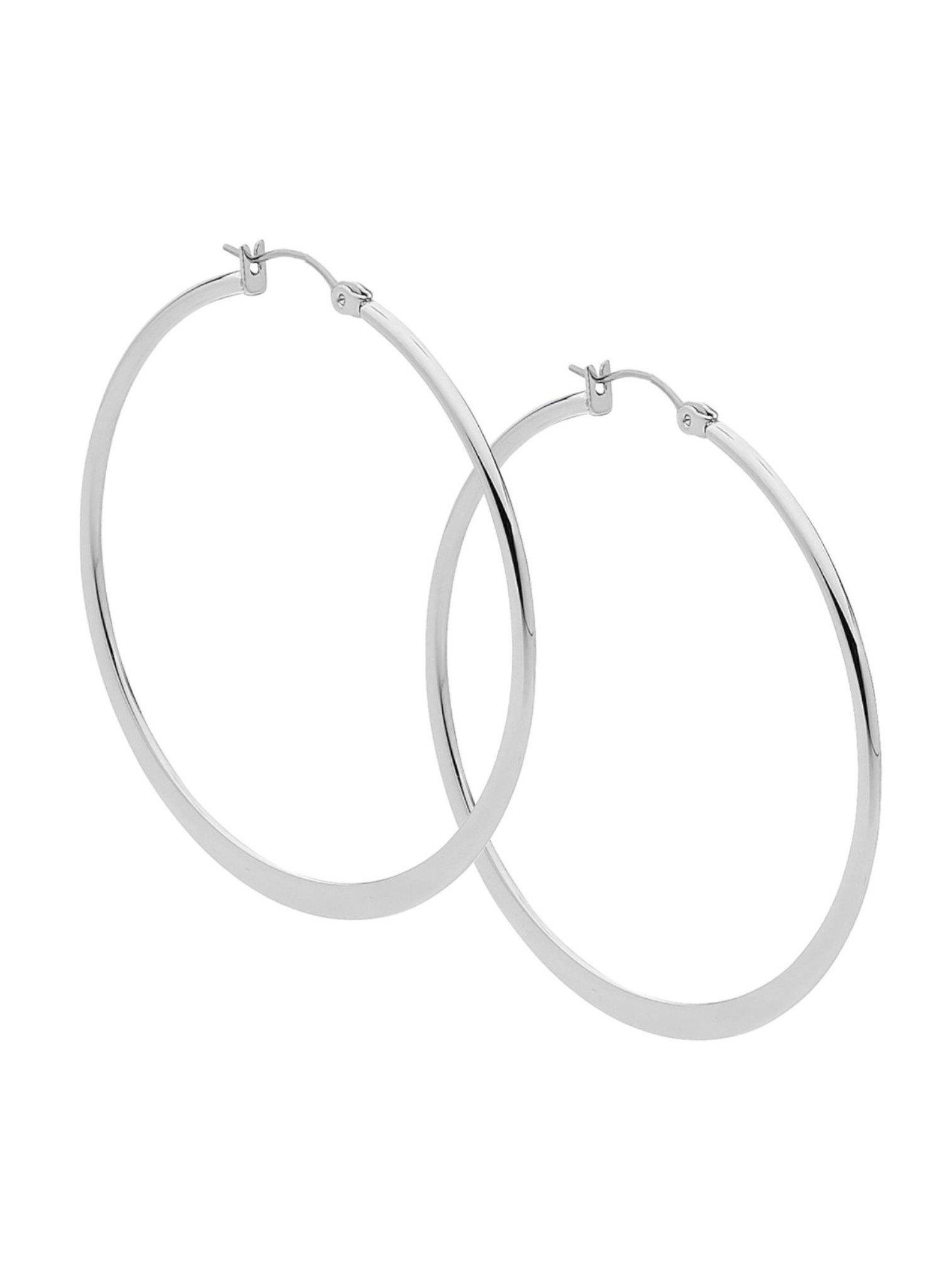 Large Hoop Earrings in Stainless Steel