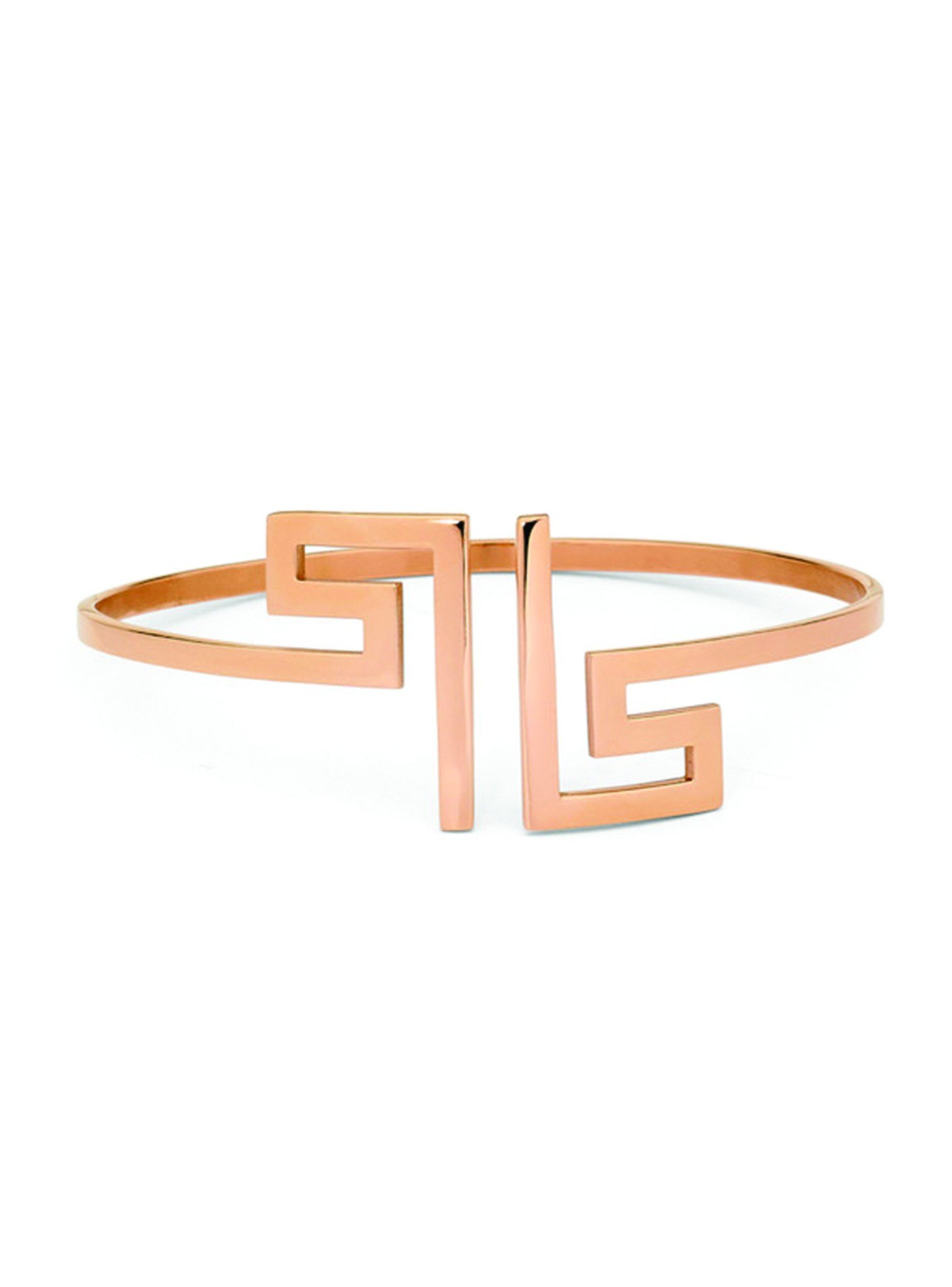 Fortune Rose Gold Bangle in Stainless Steel