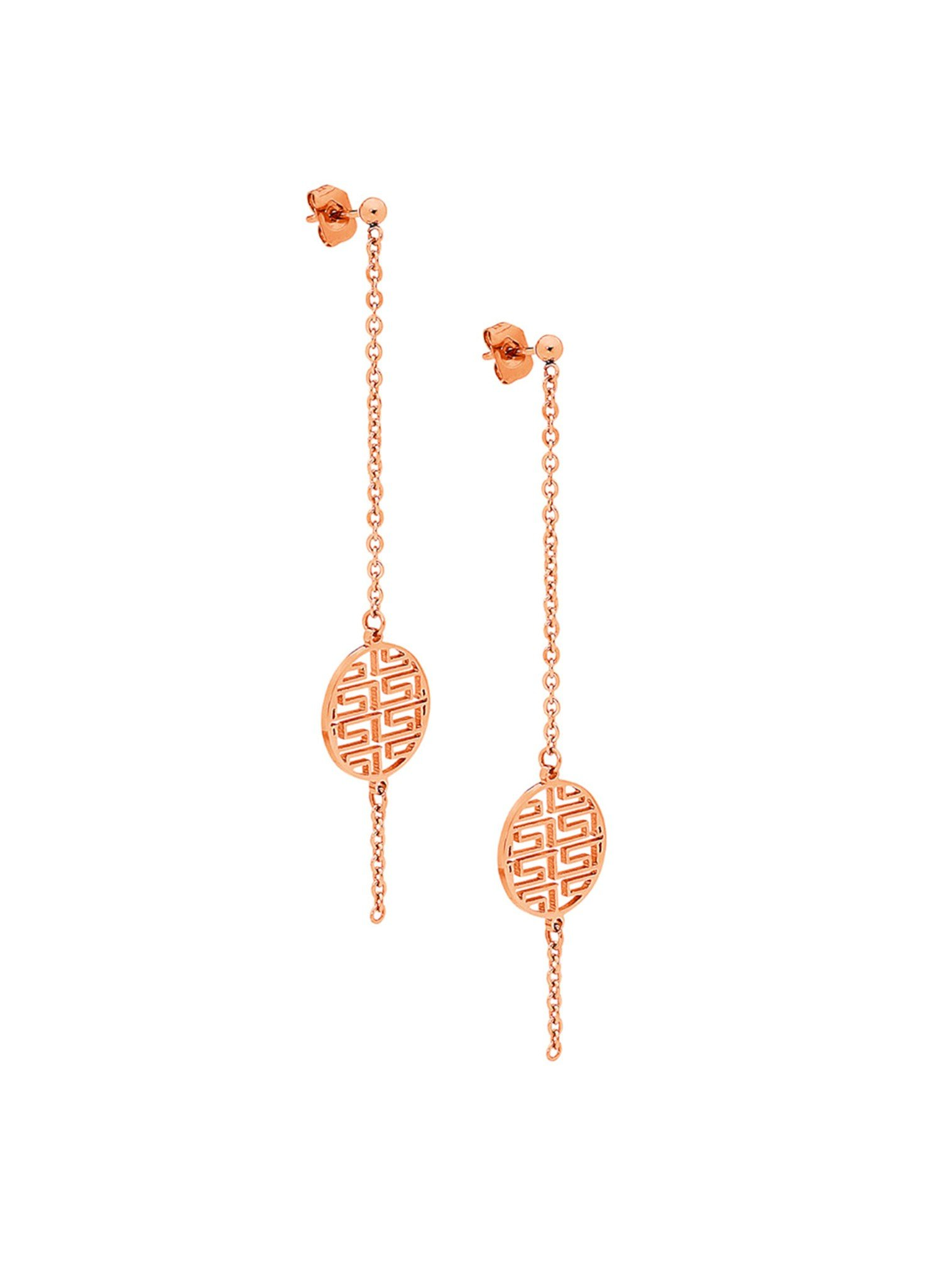 Fortune Rose Gold Earrings in Stainless Steel