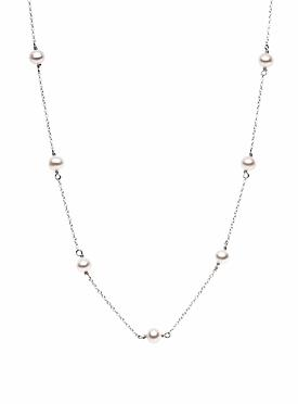 Sterling Silver Necklace with Pearls