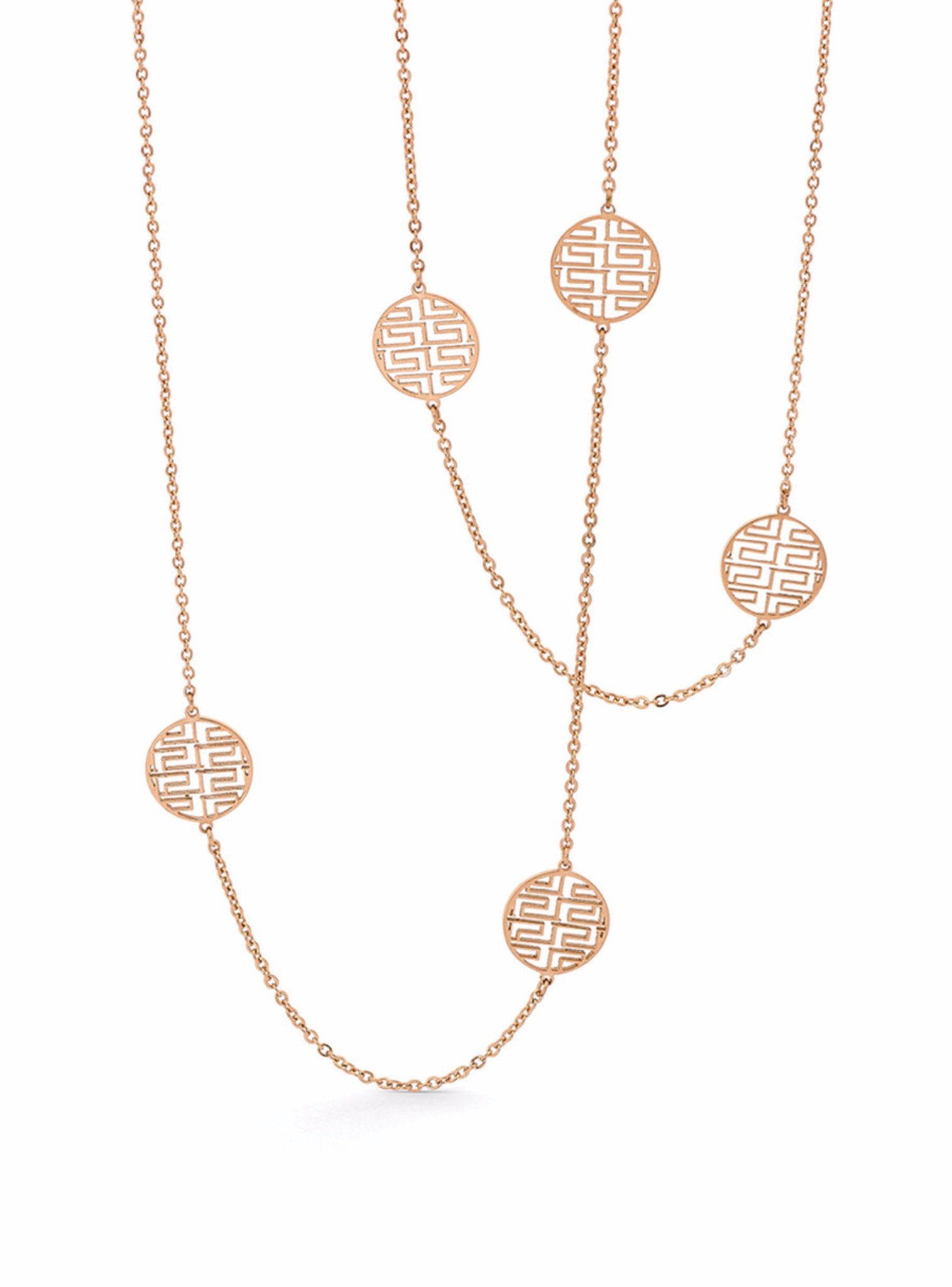 Fortune Rose Gold Necklace in Stainless Steel