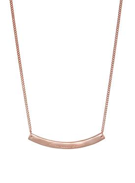 Rose Gold Willow Organic 'Live Your Dream' Bar Pendant