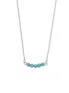 Believe Silver Necklace with Turquoise