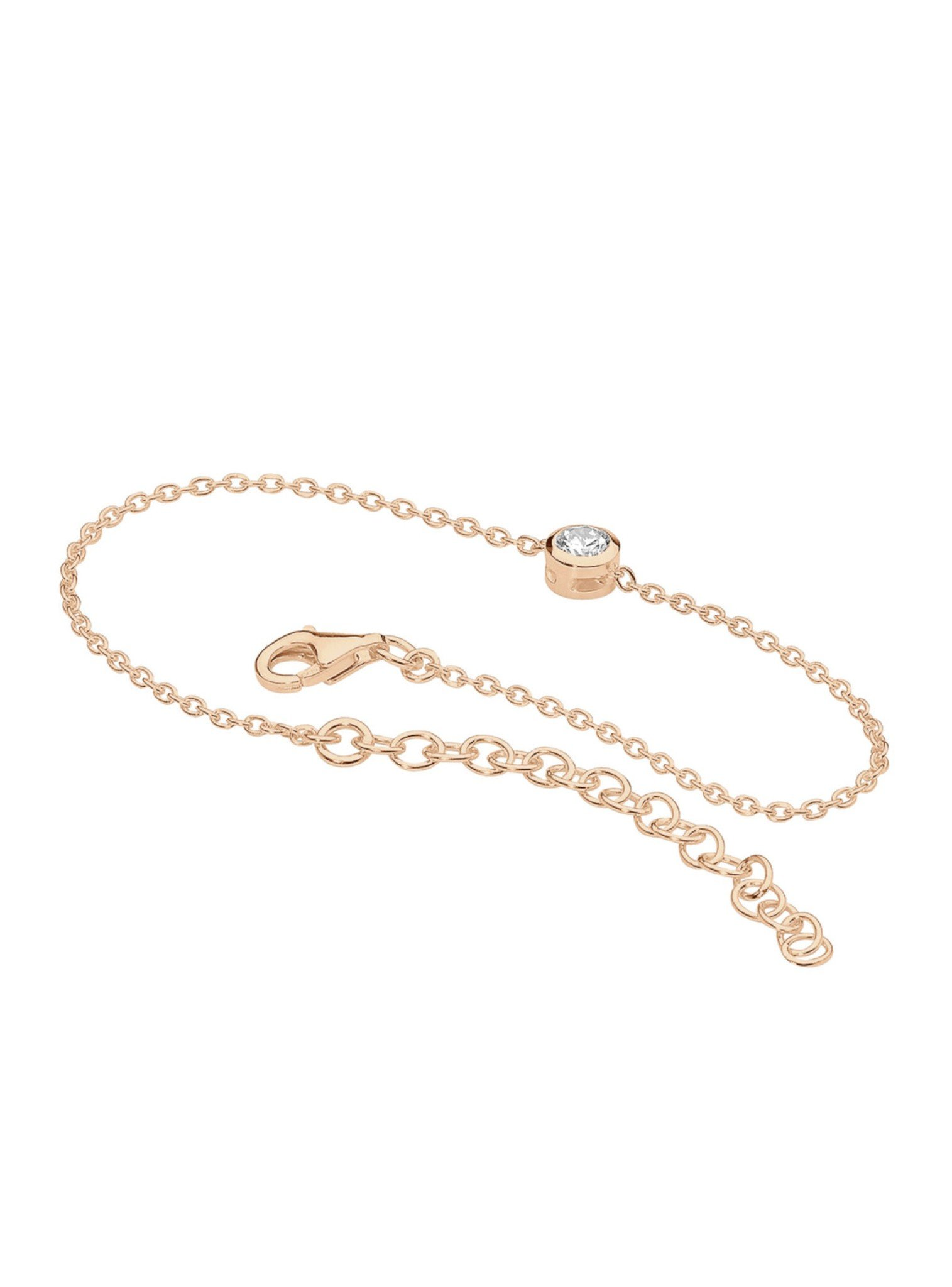 North Star 14k Rose Gold Plated Silver Bracelet with CZ