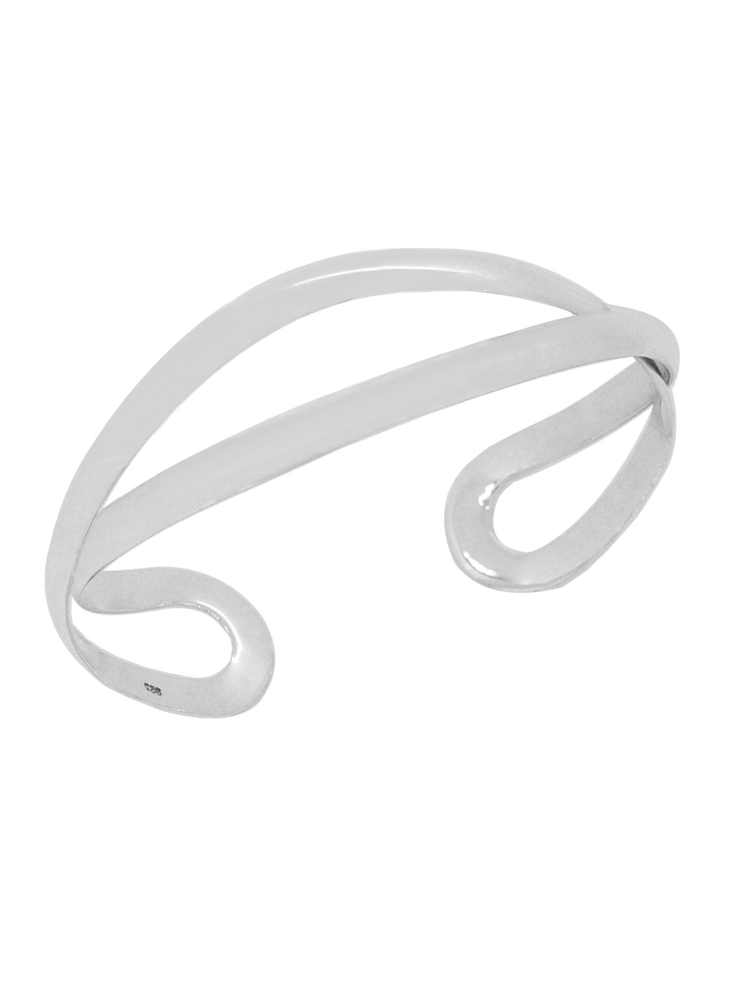 Sterling Silver Never Ending Love Infinity Cuff Bangle