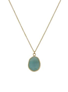 Gold Oval Stone of of Truth and Honor Necklace