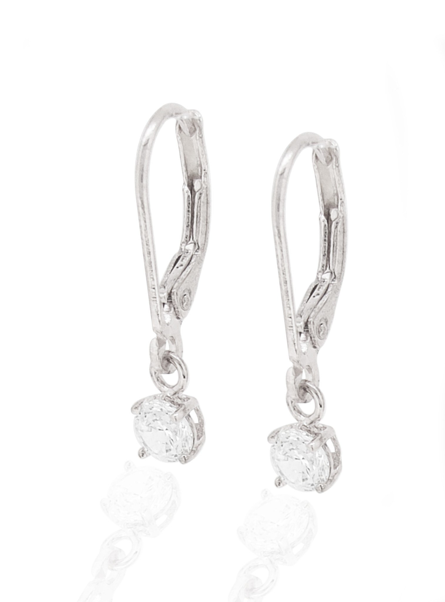 Brienne Simple Drop Hook Earrings in Silver