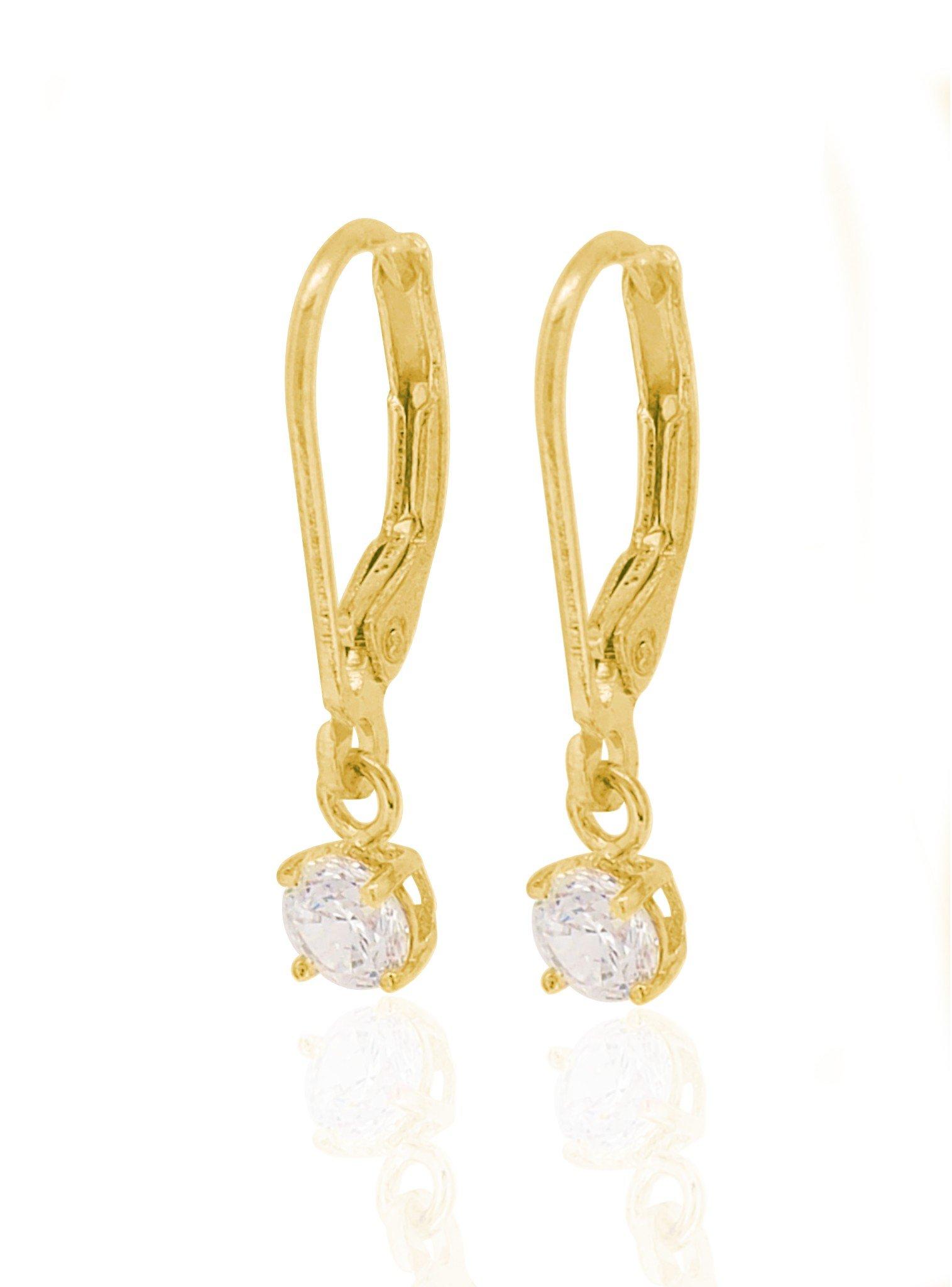 Brienne Simple Drop Hook Earrings in Gold — Jewellery Co ...