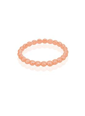 Elise Minimalist Ball Stacking Ring in Rose Gold