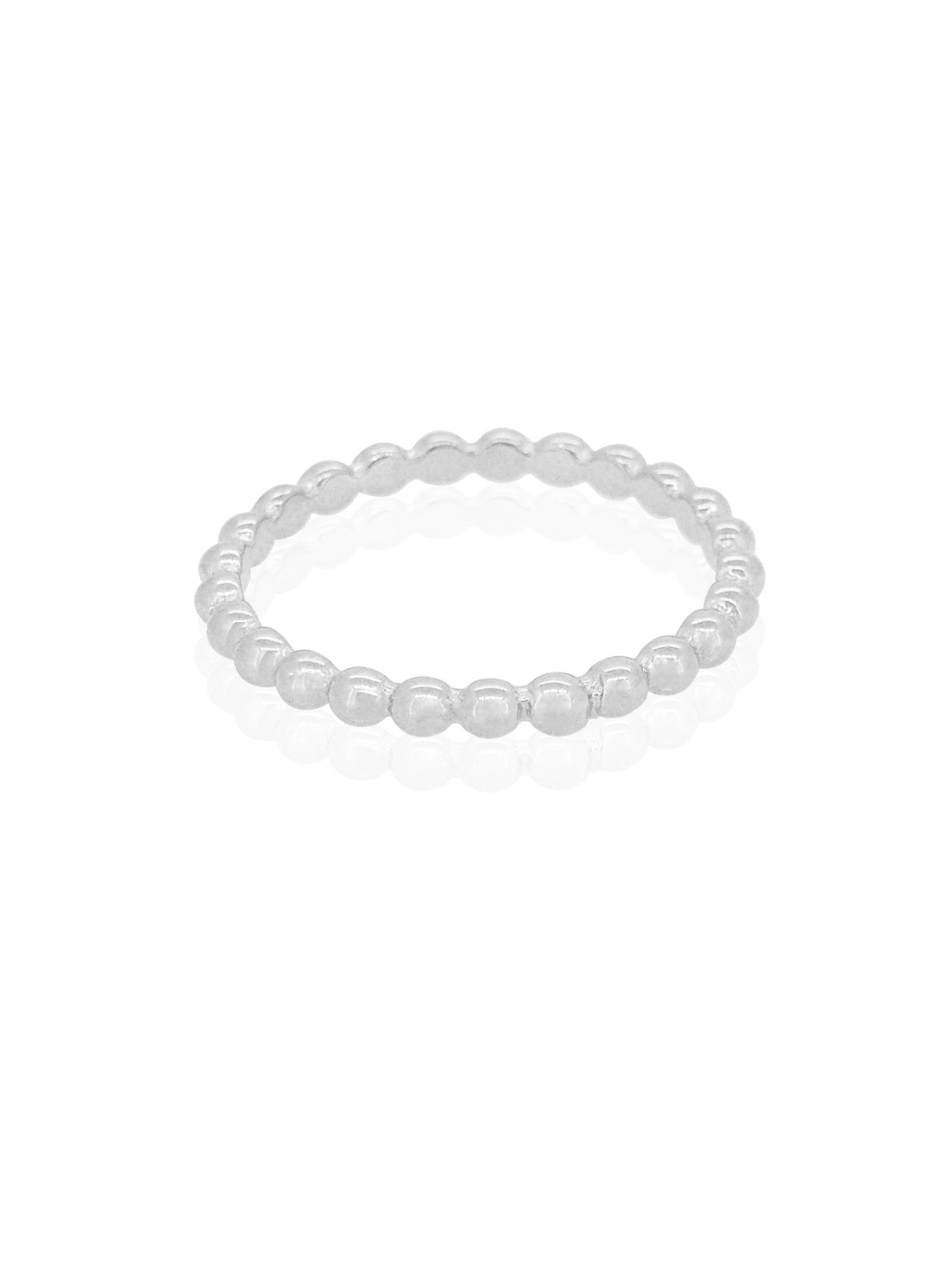 Elise Minimalist Ball Stacking Ring in Silver