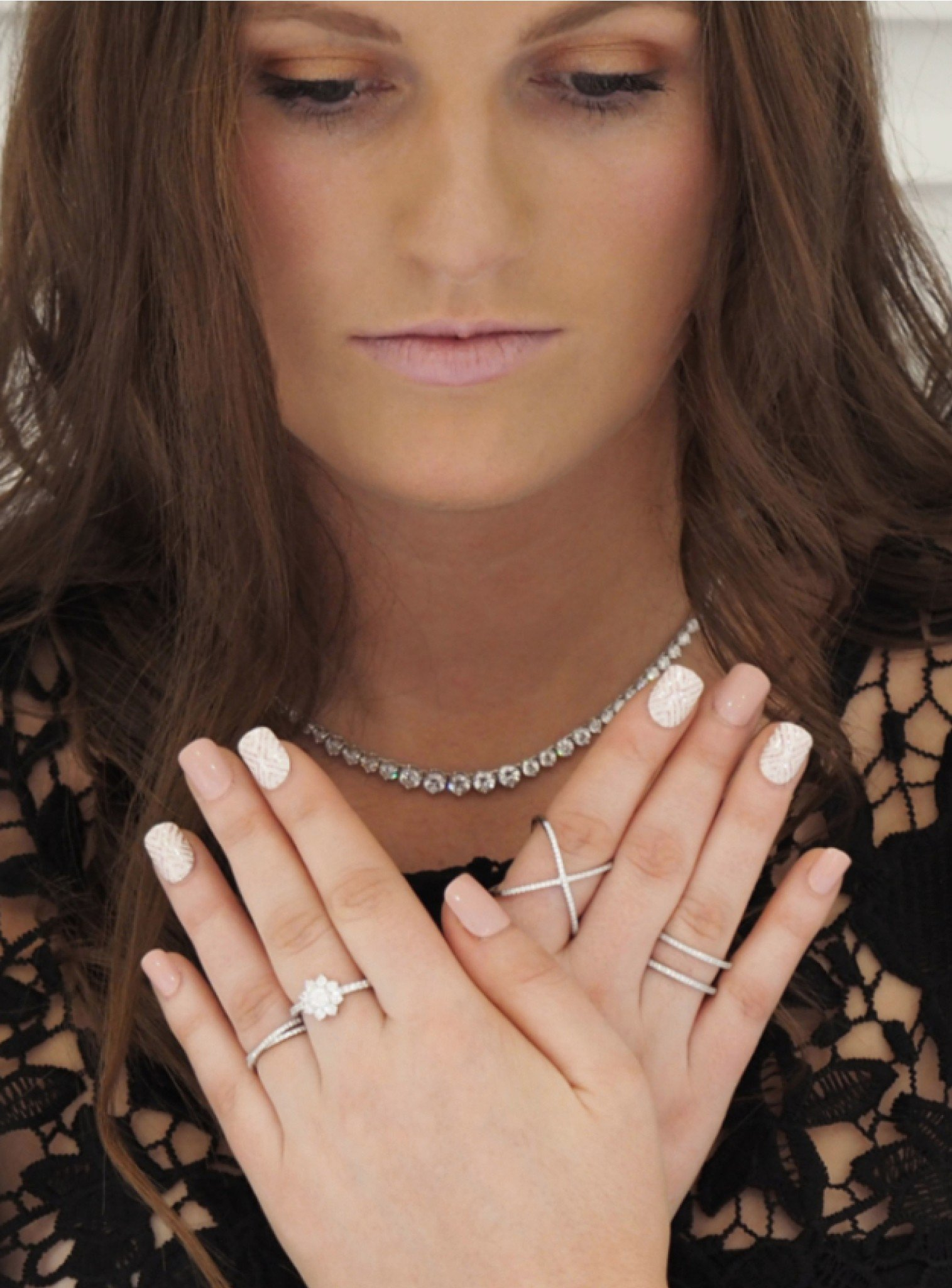 Alba Criss Cross CZ Ring in Silver