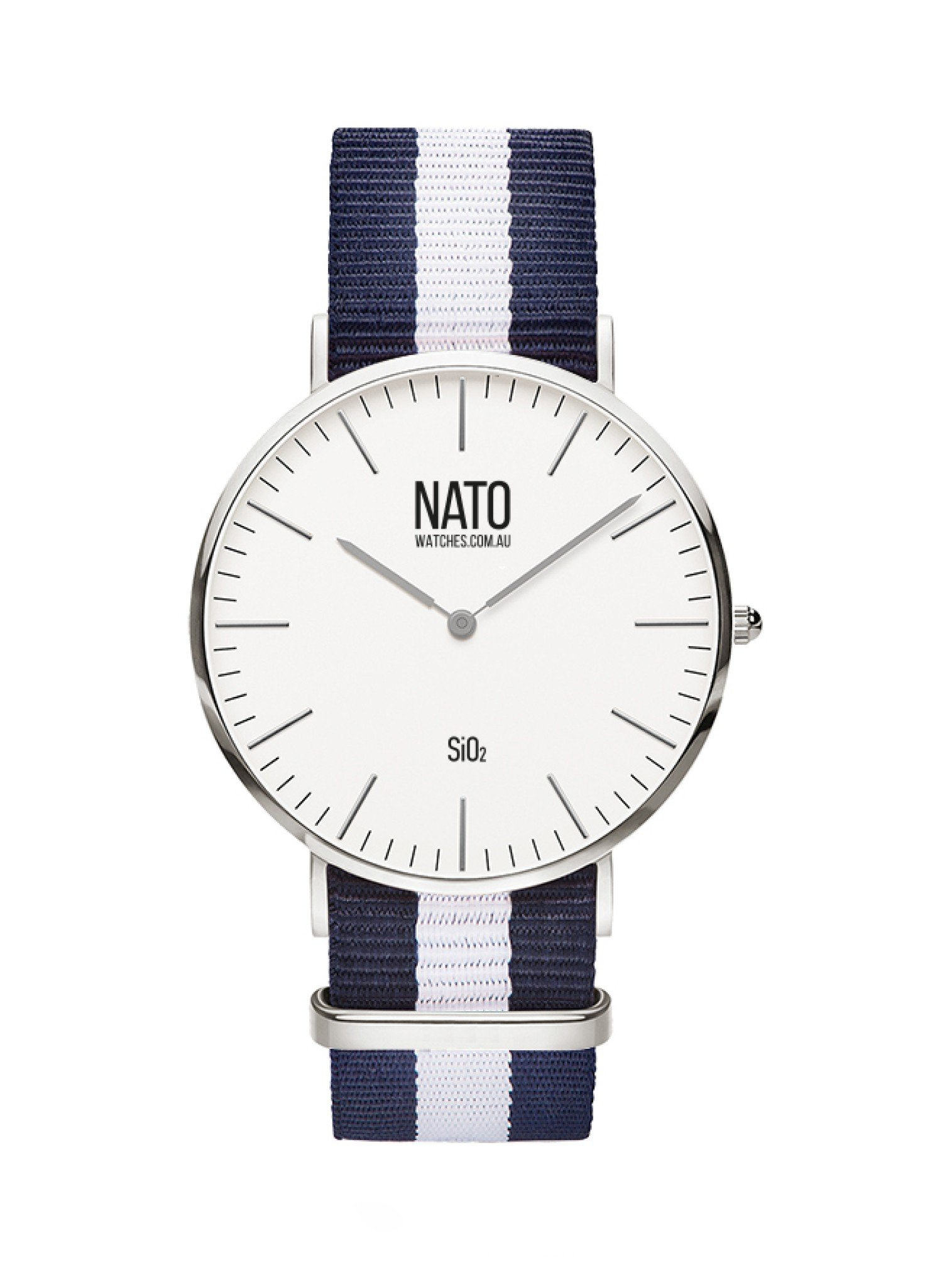Nato Watch in Silver