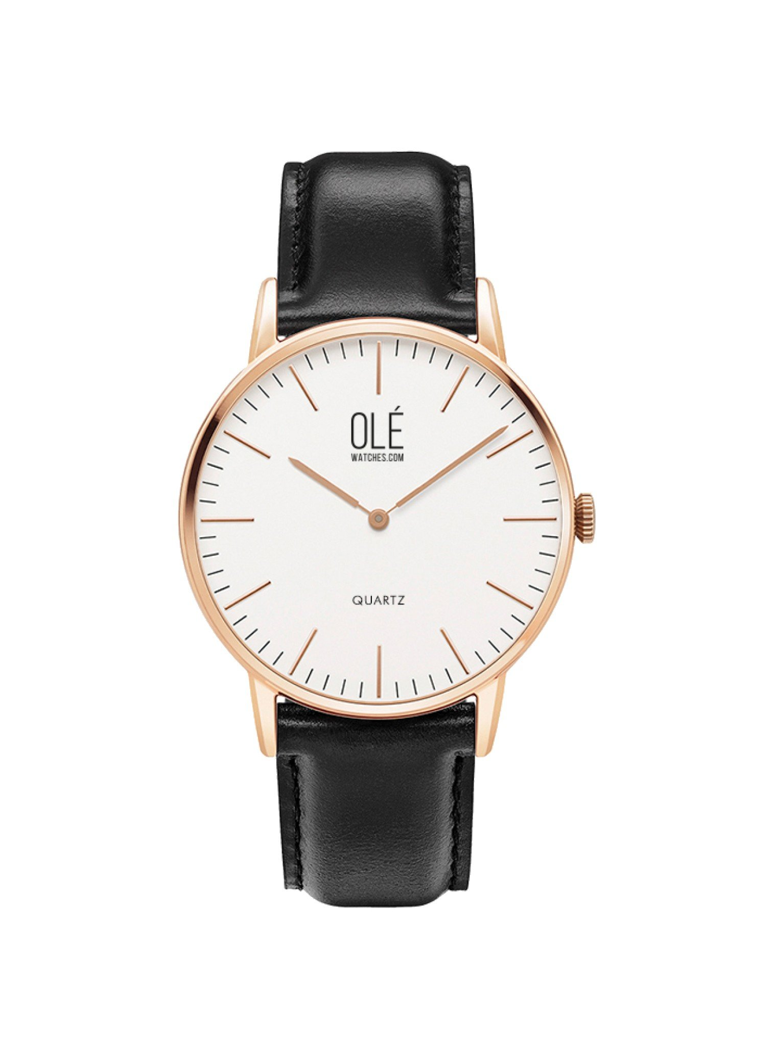 Ole' Watch Leather Strap in Rose Gold