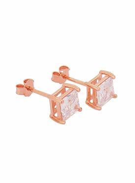 Aaliyah Princess CZ Earrings in Rose Gold