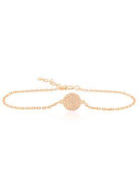 Adele Circle Disc Pave Set CZ Bracelet in Rose Gold