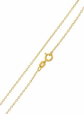 Simple Cable Necklace Chain in Gold
