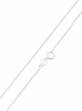 Simple Cable Necklace Chain in Silver