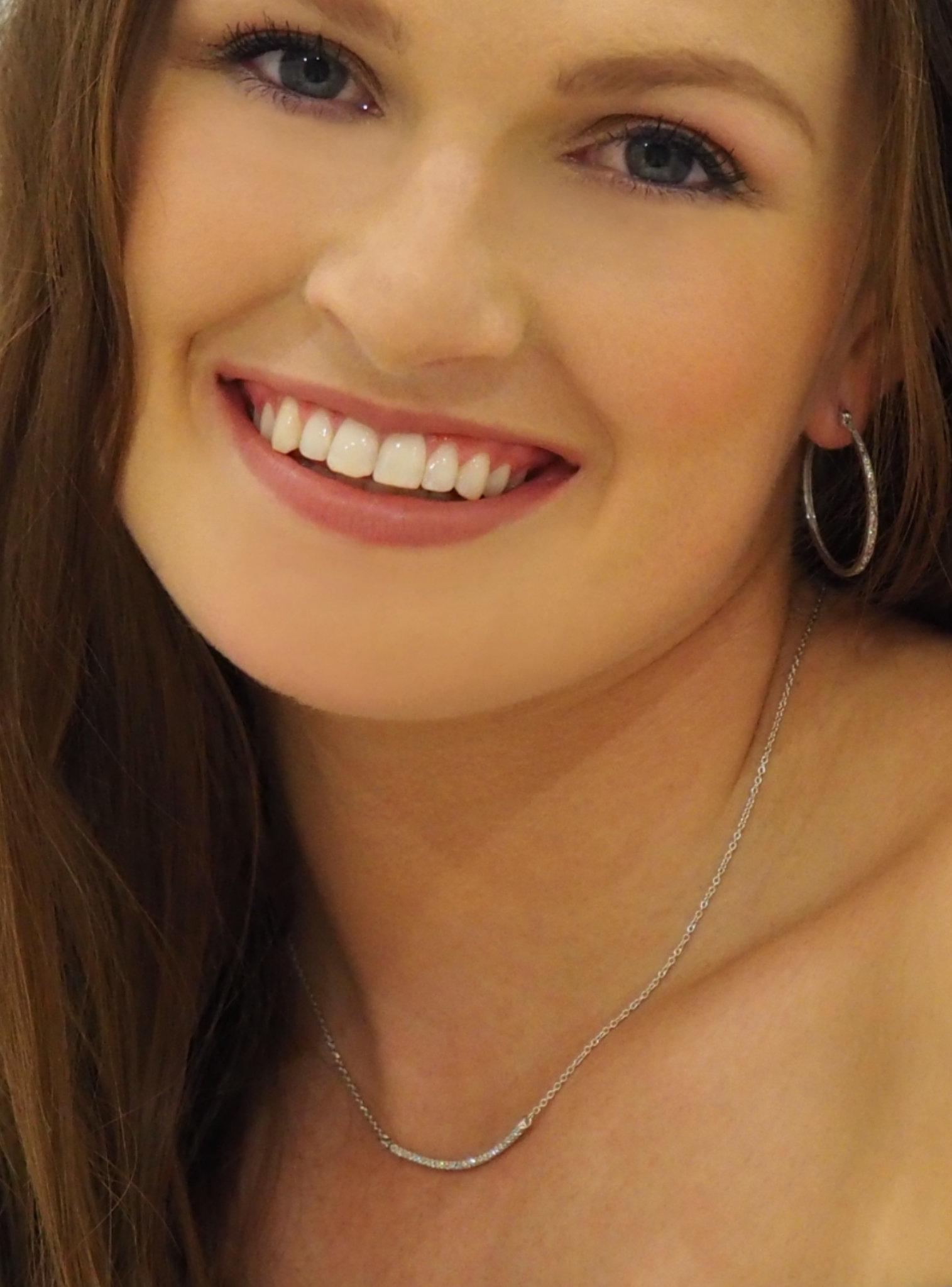 Emilia CZ Pave Set Bar Necklace in Silver