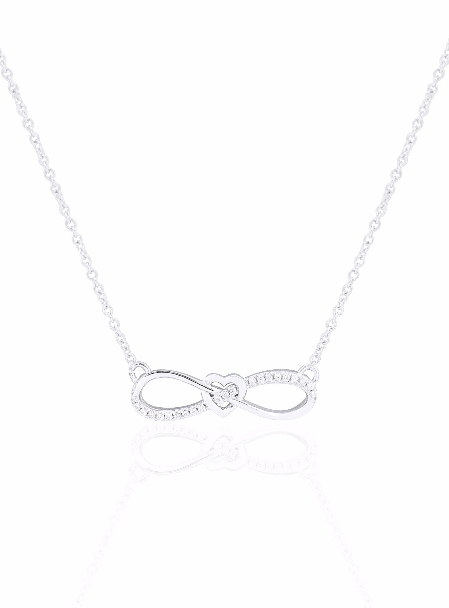 Shelby Infinity Sweet Love Necklace in Silver