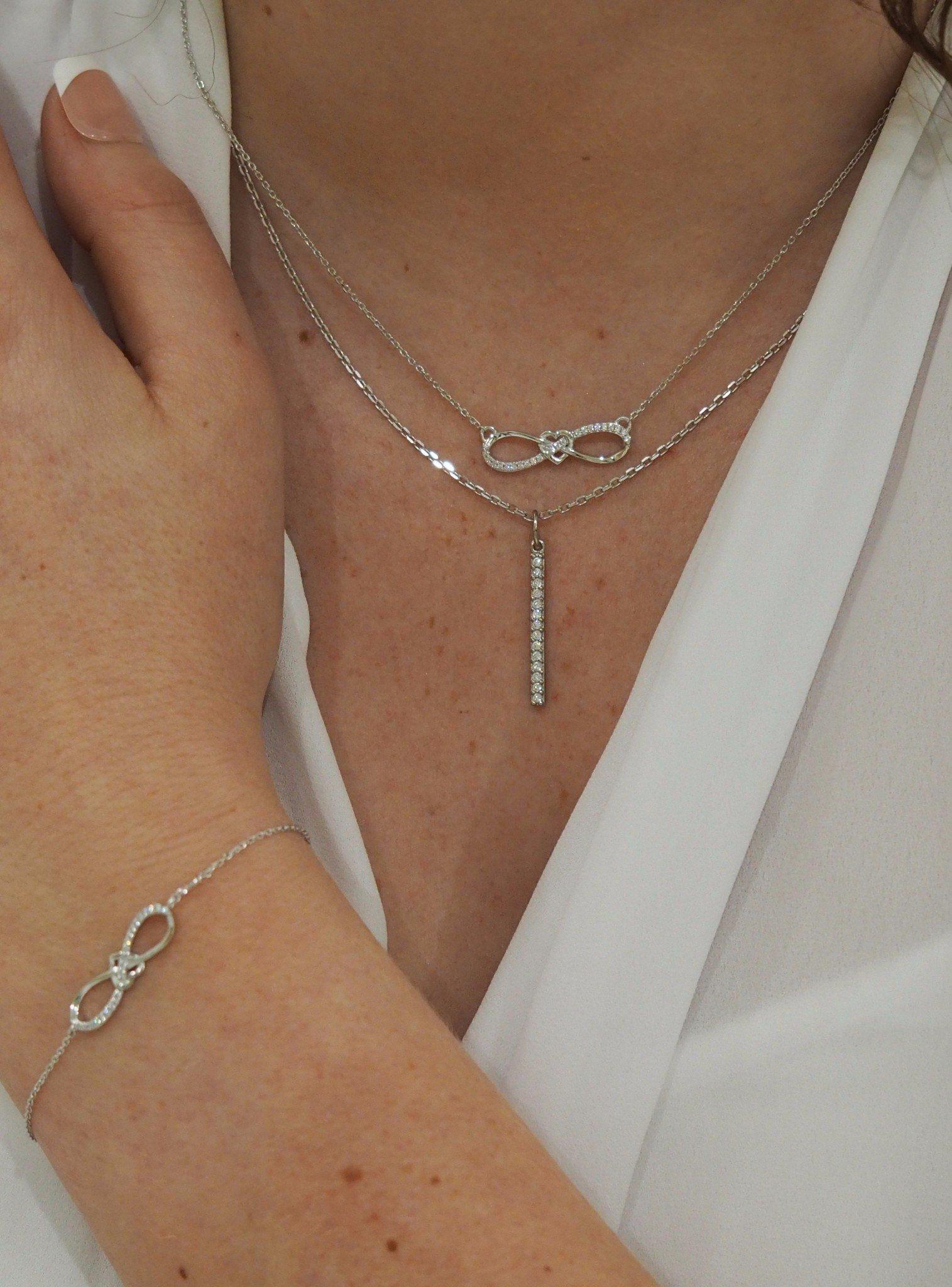 Shelby Infinity Sweet Love Bracelet in Silver