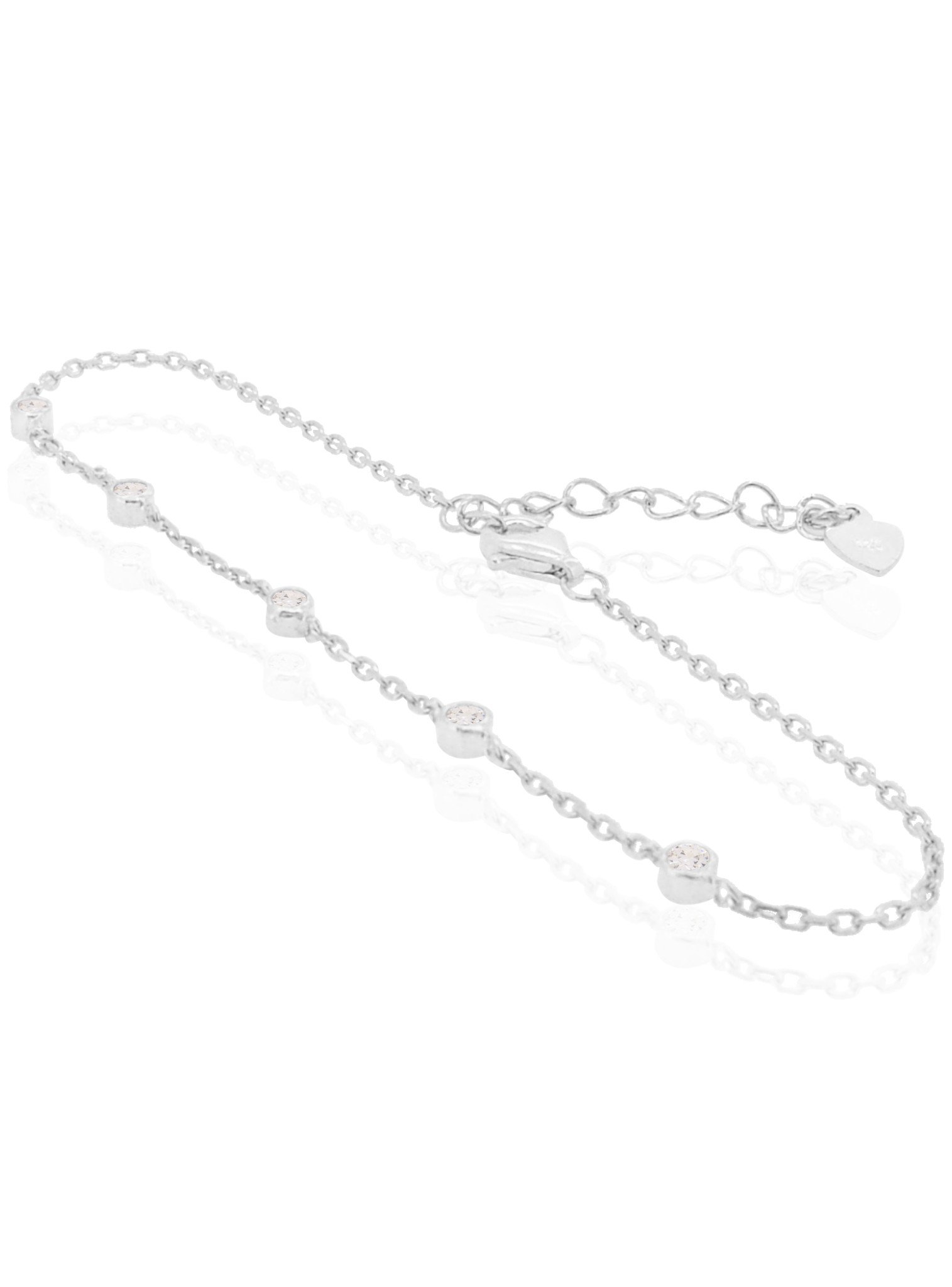 Arya Scattered CZ Bracelet in Sterling Silver
