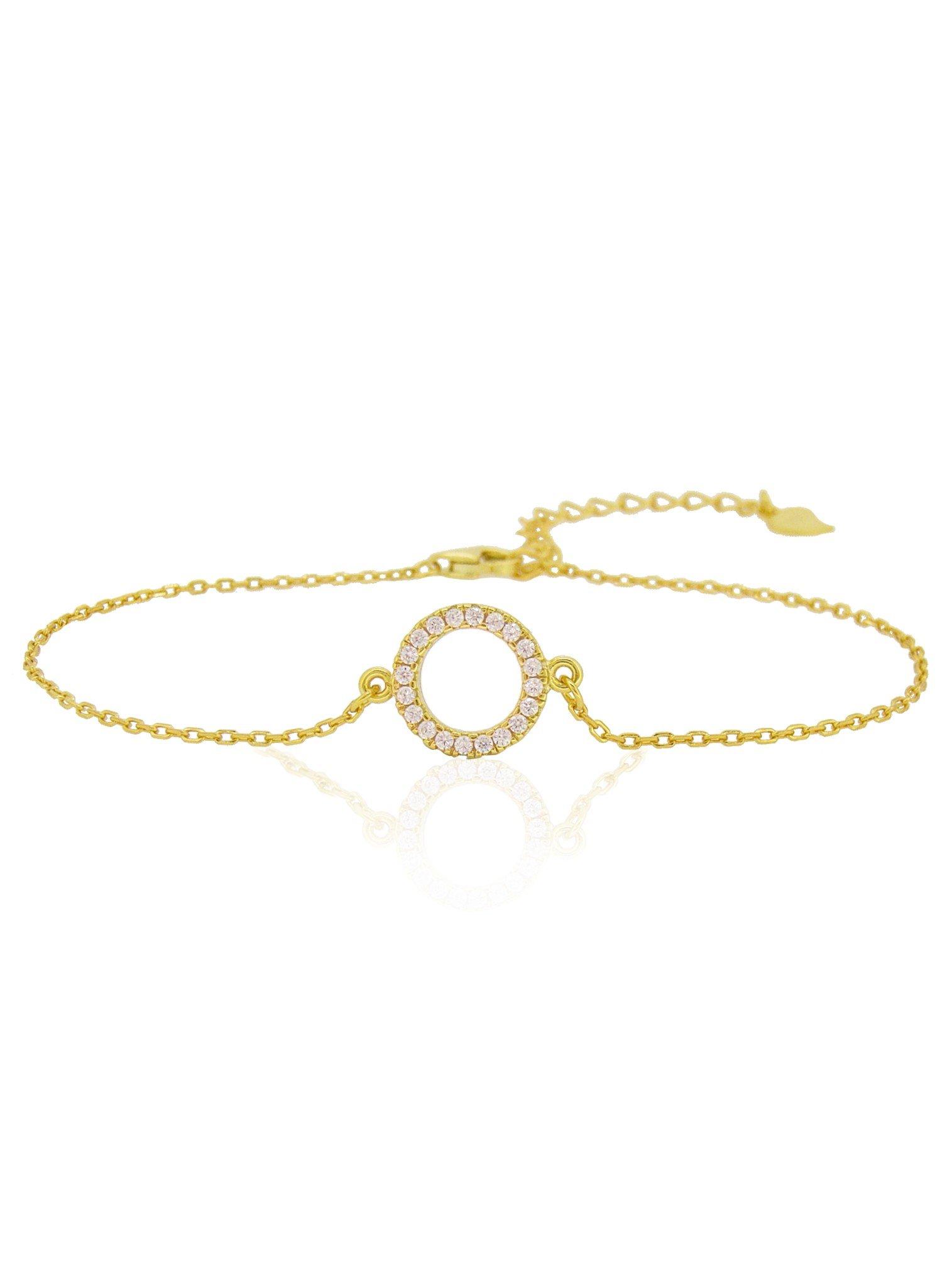 Savannah CZ Circle Bracelet in Gold