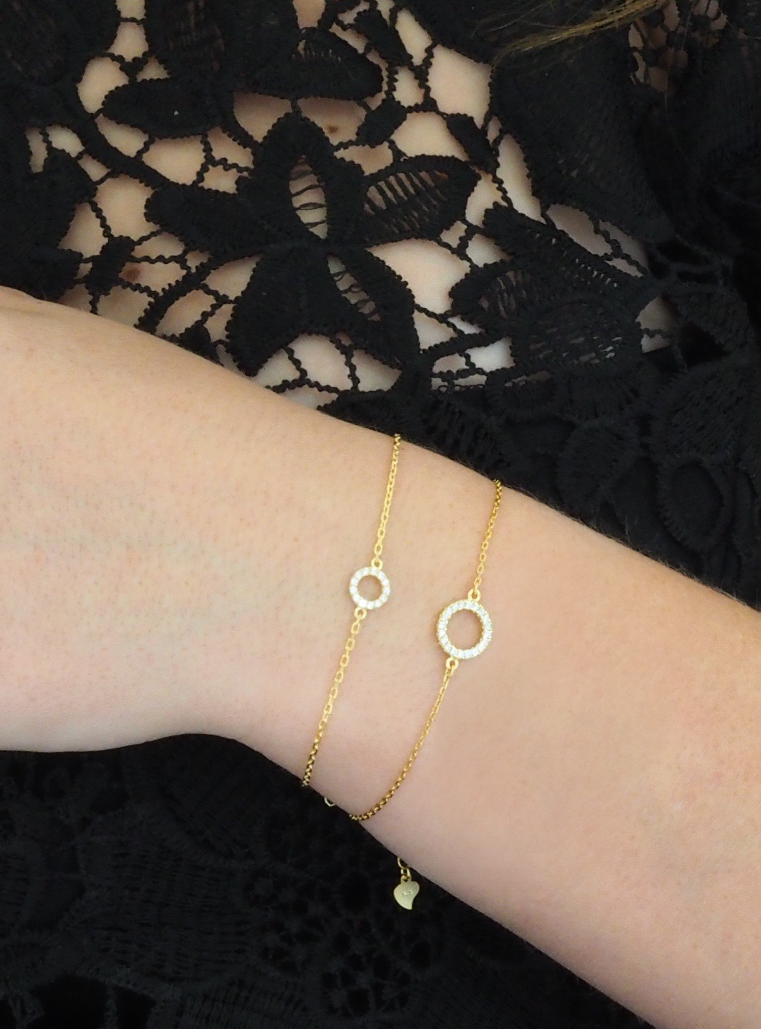 Savannah CZ Circle Bracelet in Gold