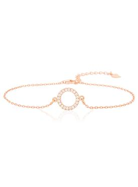 Savannah CZ Circle Bracelet in Rose Gold