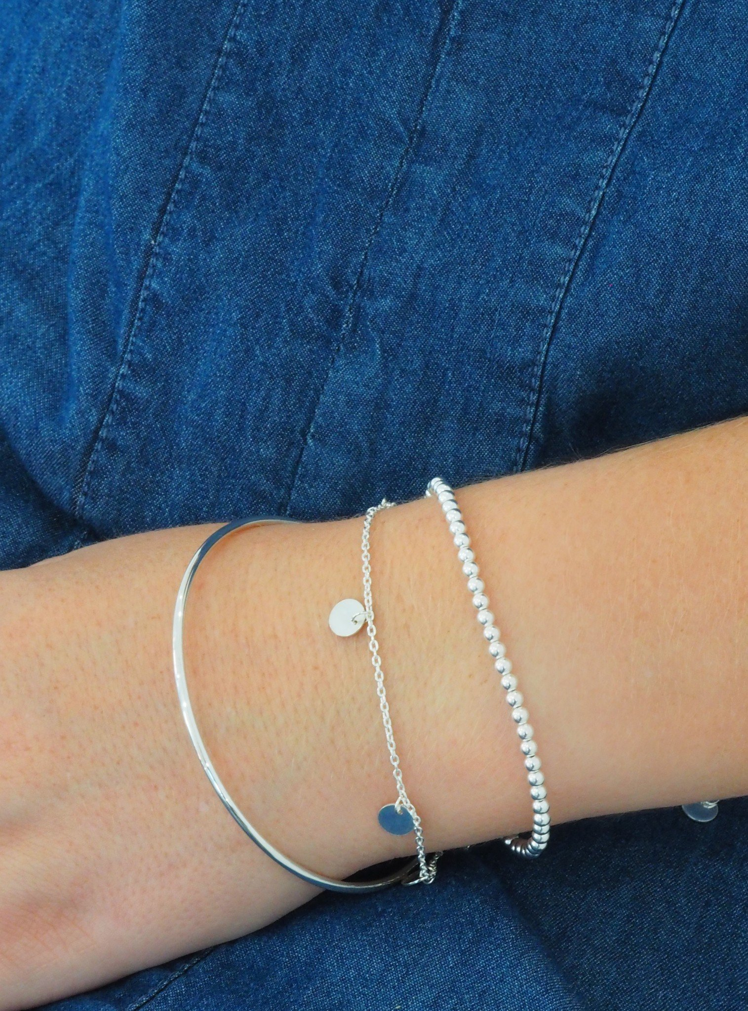 Elise Ball Bracelet in Sterling Silver