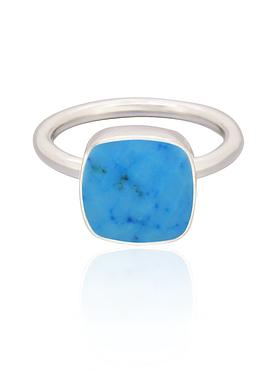 Indie Sleeping Beauty Turquoise Gemstone Ring Silver