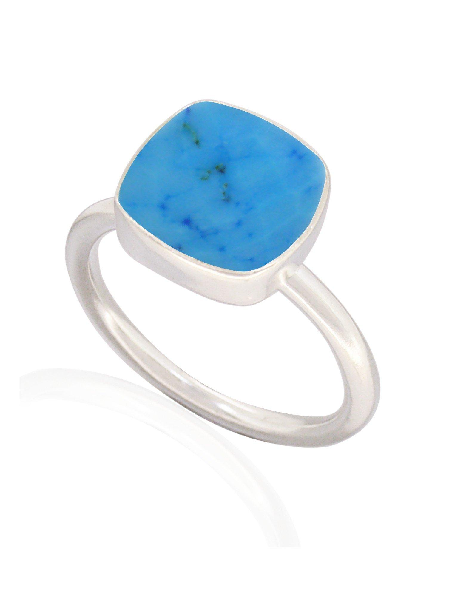Indie Sleeping Beauty Turquoise Gemstone Ring Silver