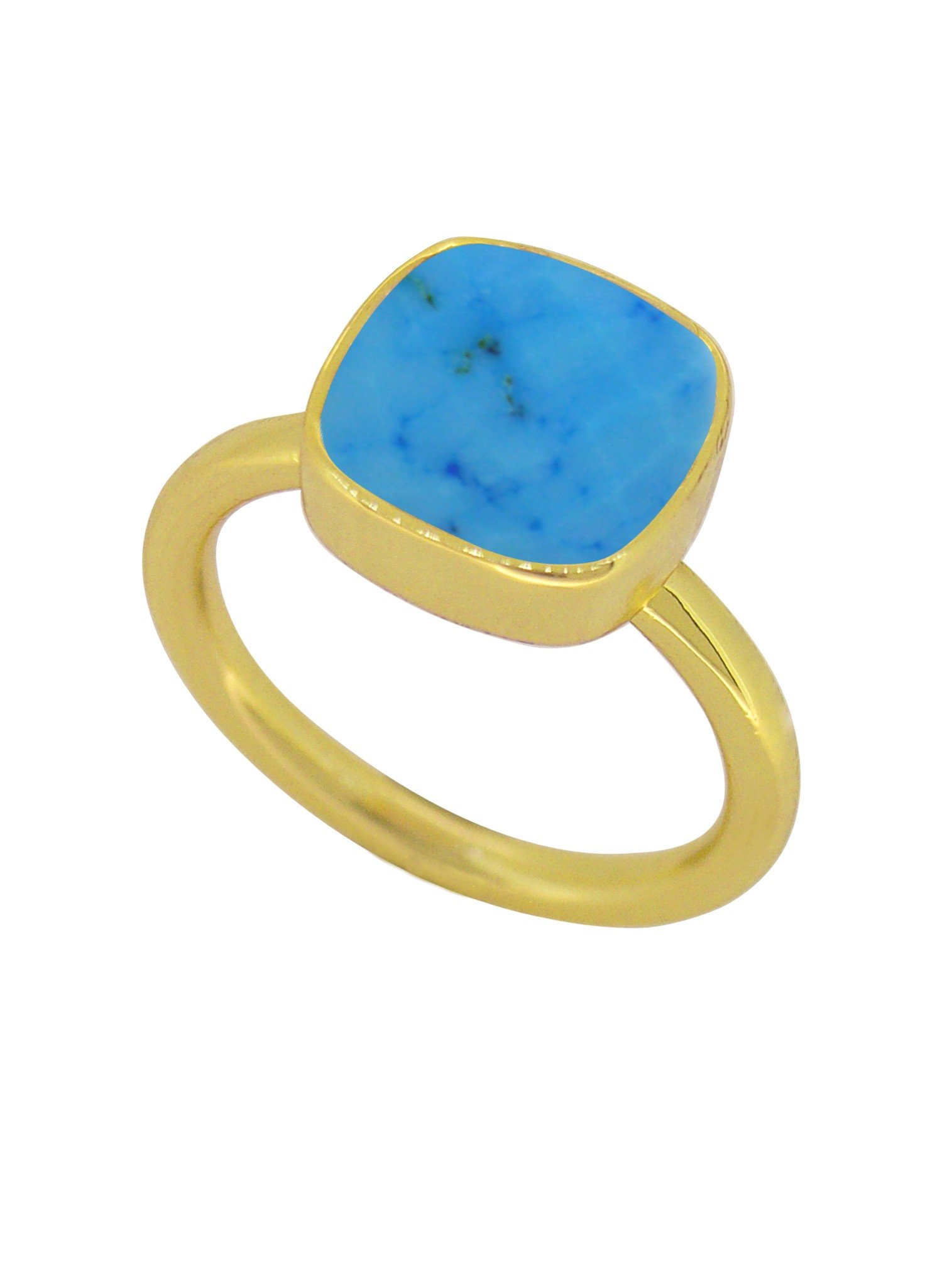 Indie Sleeping Beauty Turquoise Gemstone Ring in Gold
