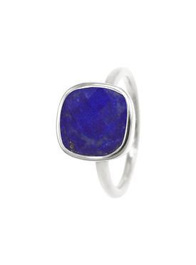 Indie Lapis Lazuli Gemstone Ring in Silver