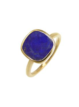 Indie Lapis Lazuli Gemstone Ring in Gold