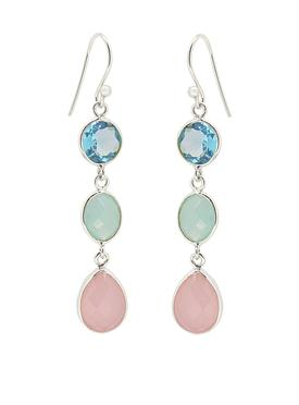 Clarke Gemstone Earrings in Silver