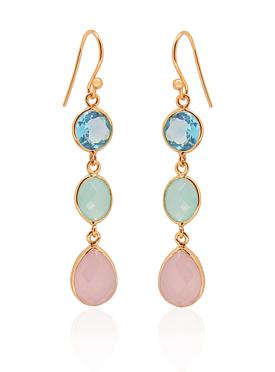 Clarke Gemstone Earrings in Rose Gold