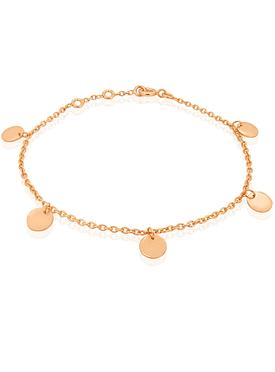 Harper Mini Coin Tag Bracelet in Rose Gold