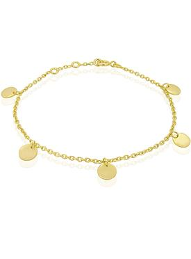 Harper Mini Coin Tag Bracelet in Gold