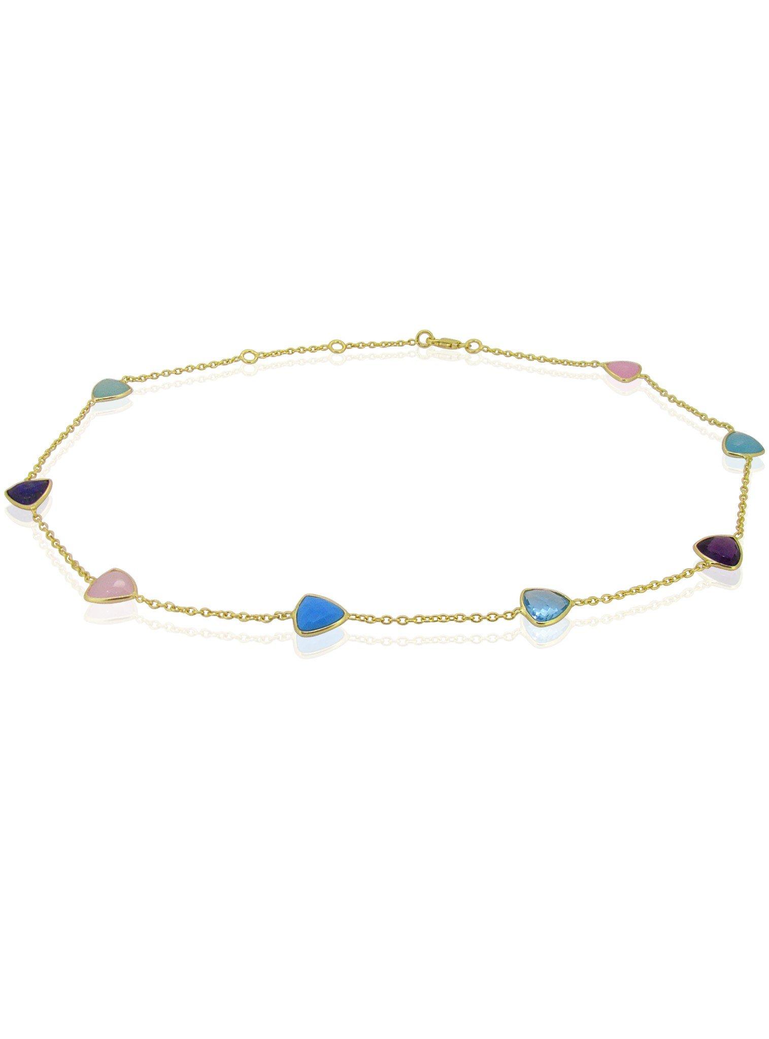 Harper Trilliant Gemstones Necklace in Gold