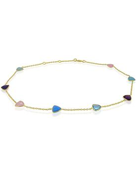 Harper Trilliant Gemstones Necklace in Gold