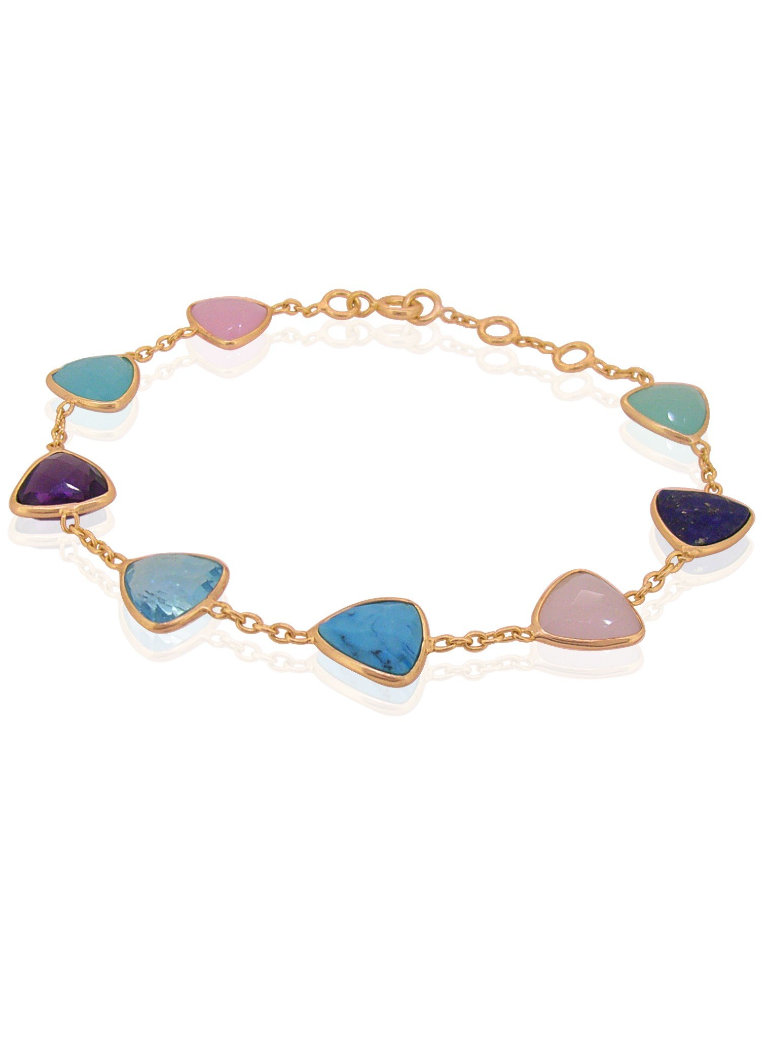 Harper Trilliant Gemstone Bracelet in Rose Gold