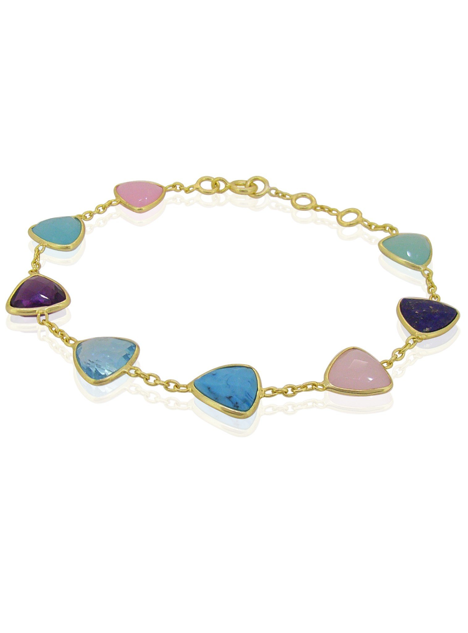 Harper Trilliant Gemstone Bracelet in Gold