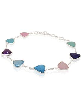Harper Trilliant Gemstone Bracelet in Silver