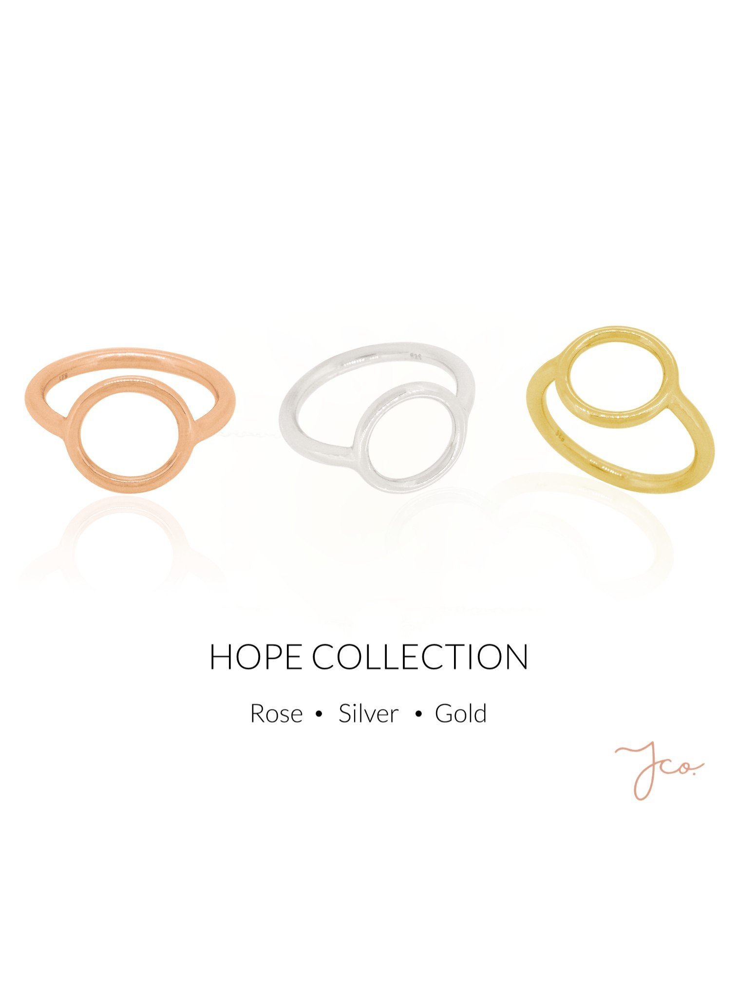 Hope Circle Ring in Sterling Silver
