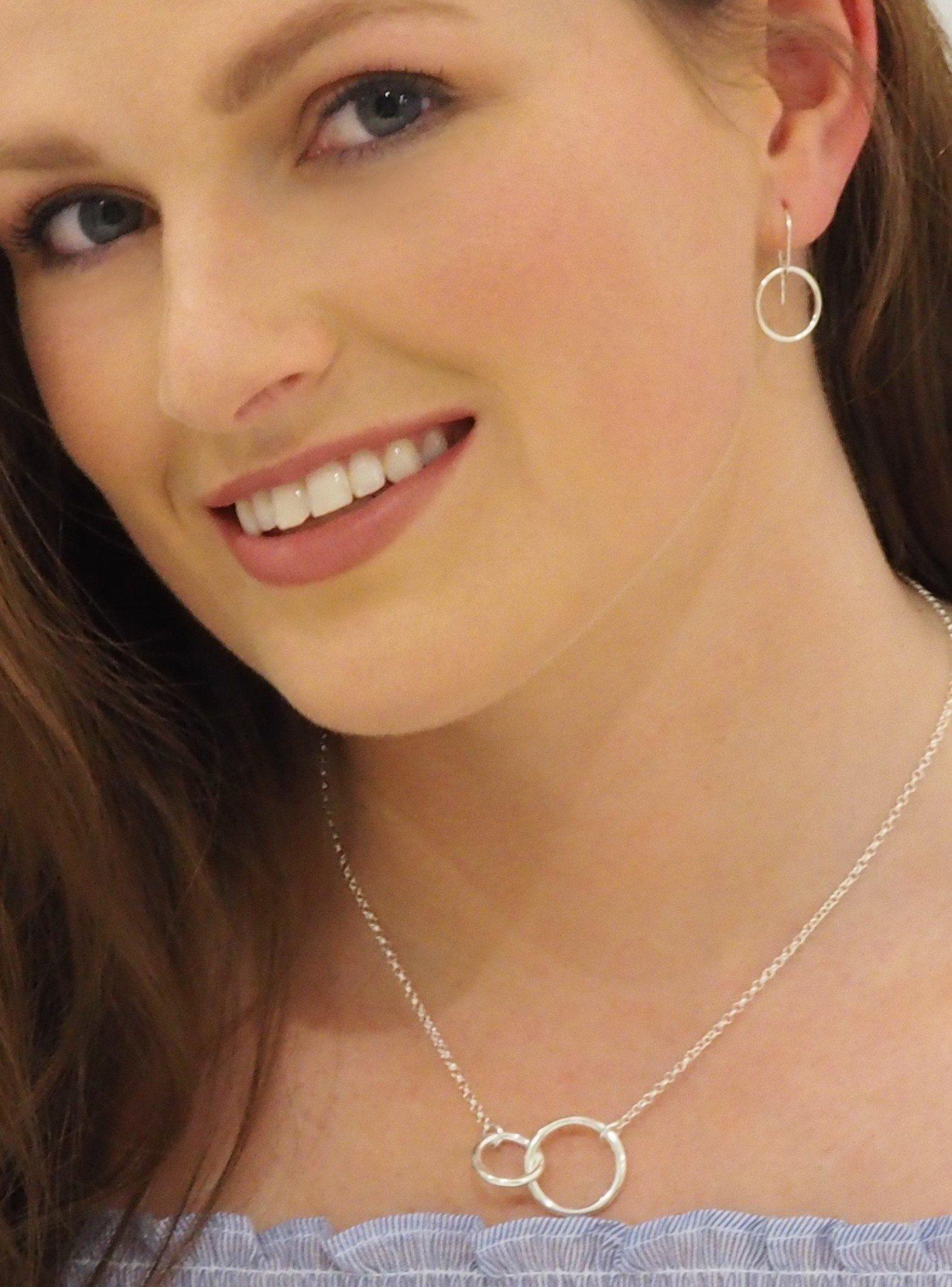 Hope Circle Earrings in Sterling Silver